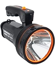 Ambertech Rechargeable 7000 Lumens Super Bright LED Searchlight Spotlight Flashlight Torch Lantern With Sharp Light