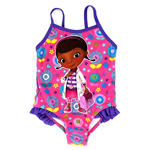 Doc McStuffins Girls Swimsuit Swimwear (2T, Doc Pink)