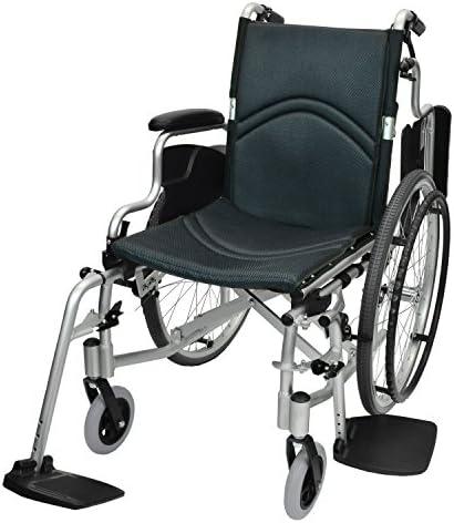 [スポンサー プロダクト]ケアテックジャパン 自走式 アルミ製 折りたたみ 車椅子 コンフォート CAH-50SU (ダークグレー)