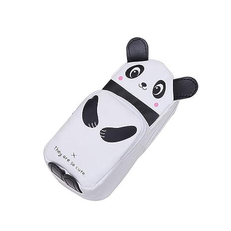 Kentop Niños Niño Niña Estuche Bonito Animales Pequeño schultasche Forma – Bolsas de Papel, PU, Schwarzer Panda, 21x8x6CM