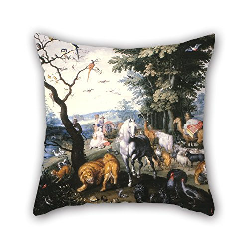 [Uloveme Throw Cushion Covers Of Oil Painting Brueghel, Jan, The Younger - The Animals Entering Noah`s Ark,for Deck Chair,dinning Room,monther,sofa,car,couch 16 X 16 Inches / 40 By 40 Cm(both] (Noahs Ark Baby Bear Costume)