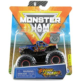 Monster Jam 2020 Spin Master 1:64 Diecast Monster Truck with Wristband: Arena Favorites Stone Crusher