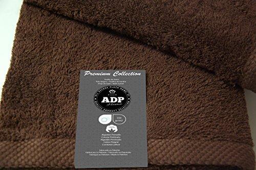ADP Home - Juego de Toallas 550 Grms 3 Piezas (Toalla Sábana/Baño, Lavabo/Mano, Tocador) 100% Algodón Peinado - Color: Chocolate: Amazon.es: Hogar