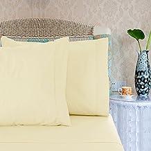 Season's Collection 1600 Series Egyptian Comfort Sateen Sheet Set - Ivory (Queen)