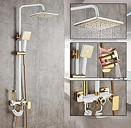 Amazon.com: YYF-SHOWER Shower System Shower Set, Paint Copper ... on white paint for kitchen, navy paint for kitchen, blue grey paint for kitchen, brown paint for kitchen, country blue paint for kitchen, orange paint for kitchen, neutral paint for kitchen, gold paint for kitchen, warm grey paint for kitchen, light yellow paint for kitchen, green paint for kitchen, earth tone paint for kitchen, light grey paint for kitchen, teal paint for kitchen, olive paint for kitchen, shades of yellow paint for kitchen, turquoise paint for kitchen, neon paint for kitchen, blue gray paint for kitchen, metallic paint for kitchen,