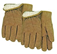 Suede Cowhide Leather Work Glove Lined with Acrylic Pile