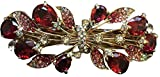theLuxury Hair Pin Bridal Hair Comb for Wedding Rhinestone Crystal(Ruby)