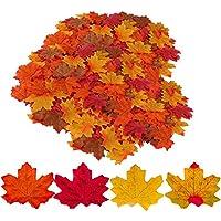 GiBot 400 Stück Ahornblätter Deko Farbig Gold Blätter Herbst Ahornblatt Girlande Herbst Dekoration Herbst Fee Blätter für Außen Zuhause Herbstparty, 4 Farben x 100 Stück