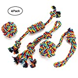 ACLBB Dog Chew Toys Teething toy Dog Rope Toys Puppy Cotton Durable for Small and Medium Dogs - 4 Pack Gift Set