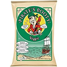 Pirate's Booty Snack Puffs, Veggie, 4 Ounce (Pack of 12)