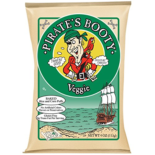 (Pirate's Booty Snack Puffs, Veggie, 4 Ounce (Pack of 12))