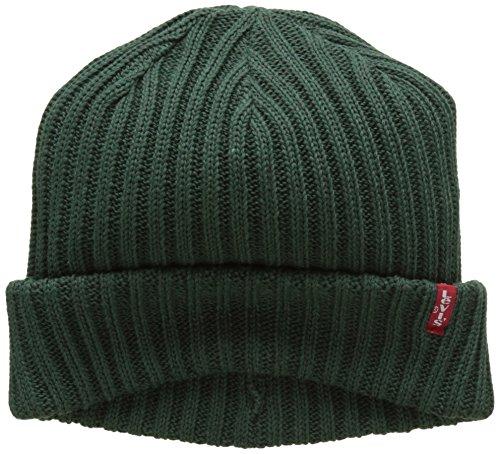 Beanie Verde Regular Noir Unisex Ribbed Green Adulto Levi's Sombrero 6Rp1pB