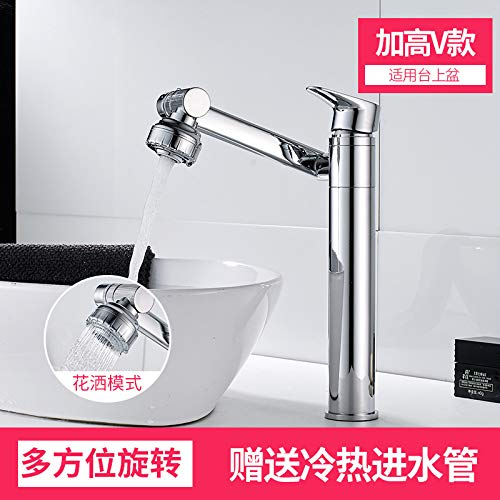 A twenty one PajCzh Taps Taps Faucet Faucet Basin Pull-Type Faucet Hot And Cold Hot And Cold Wash Hand Faucet Pressurized Home Wash Basin redating Faucet, A, 4