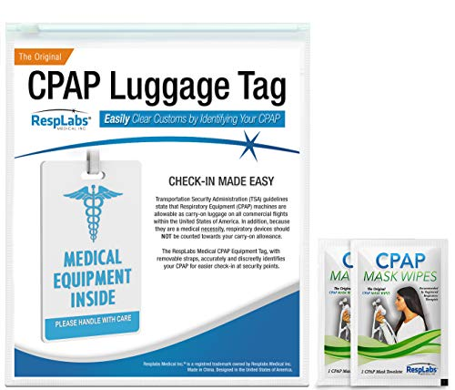 RespLabs CPAP Medical Device Luggage Tag - CPAP Travel Supplies