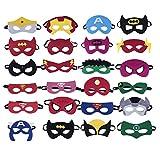 color mogu Superheroes Party Masks for Children, 24 Piece