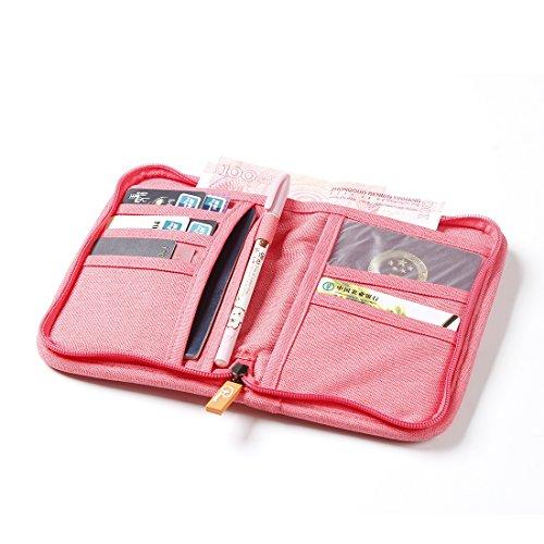 SUSU Travel Passport Wallet Case Family Passport Holder Organizer 4 Passport Cover for Women, Mom, Girls by SUSU (Image #3)