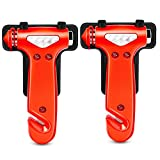 GOOACC Seatbelt Cutter Auto Window Breaker Emergency Rescue Escape Tool Car Safety Hammer, 2 Pack