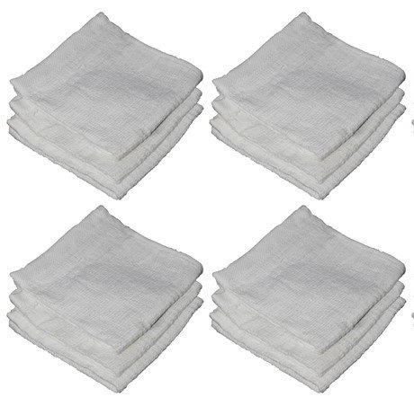 "100% Ring-spun Cotton Washcloths design to exfoliate your hands, body or face - Extra Soft and Absorbent – Machine Washable Size 12"" X 12"""