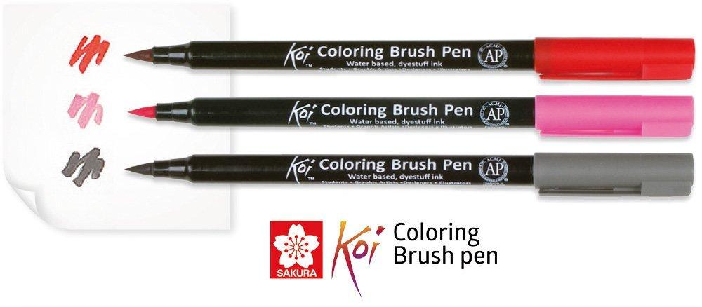 Sakura Koi Coloring Brush Pen Set Of 6: Amazon.in: Office Products