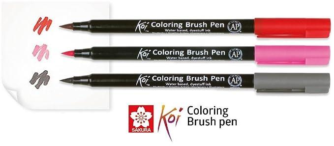 Sakura Koi Coloring Brush Pens 12er-Set, 12 Pinselstifte im Etui ...