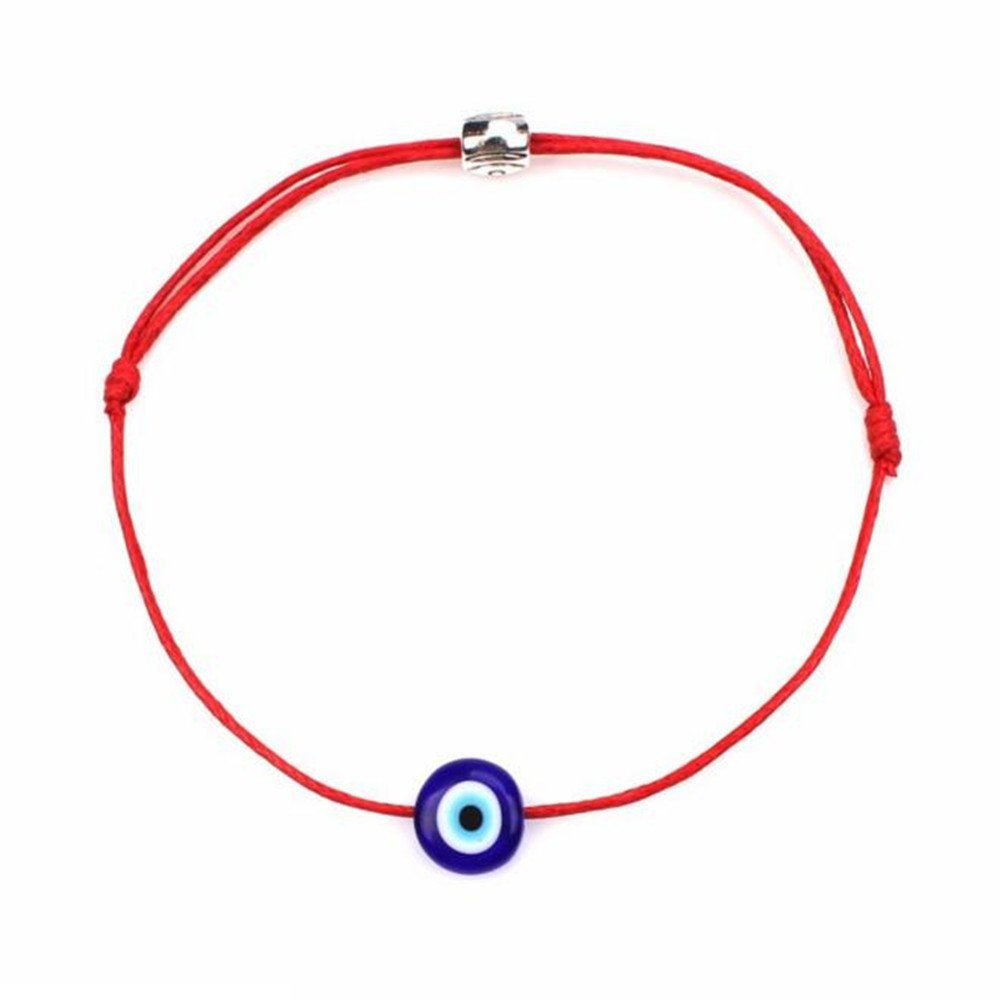 Red Black String Kabbalah Bracelets Bracelet Bangle Braided String Cord with Rotating Evil Eye- Jewish Amulet Pendant Jewelry for Success and Protection Lucky PlENDE B07DC29HSR_US