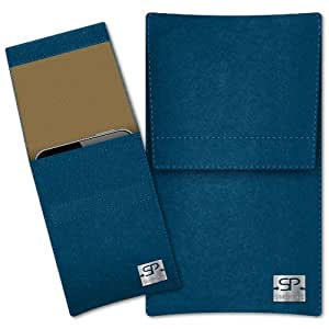 SIMON PIKE Cáscara Funda de móvil Sidney 15 azul petróleo Apple iPhone 3GS Fieltro de lana