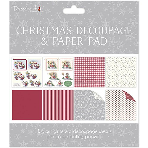 Decoupage Pad (Dovecraft Christmas Decoupage & Paper Pad - Hedgehog - Card or Scrapbooking Kit)