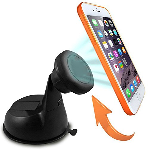 Car Mount, TOTOP® Magnetic Dashboard/Windshield Car Mount Holder for iPhone 6 (4.7)/ iPhone 6 Plus (5.5)/ 5s/ 5c/, Samsung Galaxy S6/S6 Edge/S5/S4 Note 4/3, Google Nexus 6/5/4
