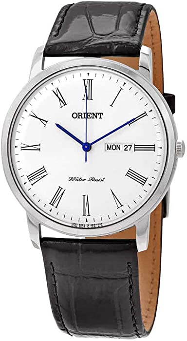 Orient FUG1R009W6 40mm Stainless Steel Case Black Calfskin Mineral Men