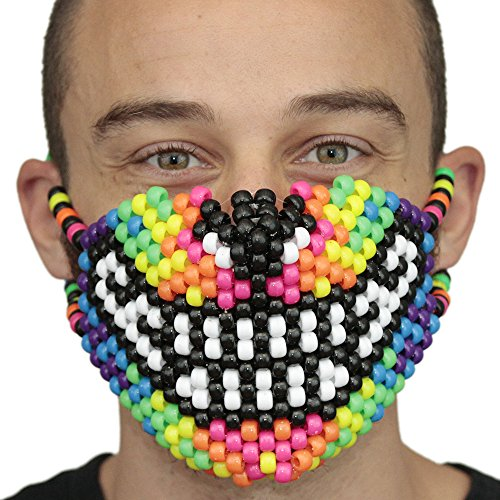 Wolf Kandi Masks Rave Wear by Kandi Gear (Rainbow Wolf) -
