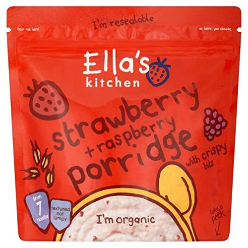 Ella's Kitchen Strawberry & Raspberry Porridge 175g Ella's