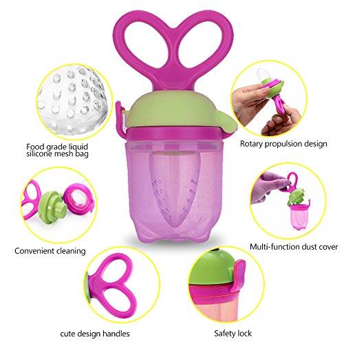 Silicone Baby Feeder Feeding M (Purple) - 9