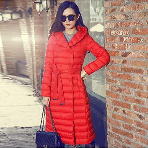 Stile Donna Da Piuma Giubbotto Red Bianca Invernale Guxiu D'oca Parka In qPfg4txw