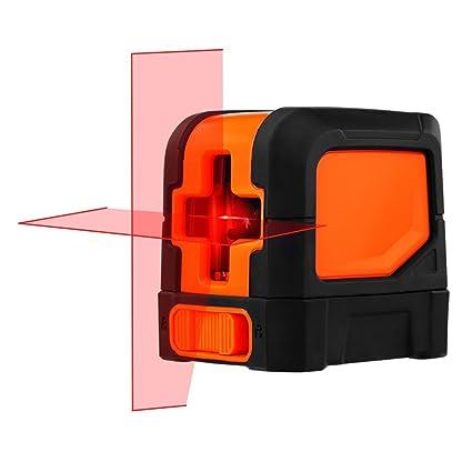 SUAOKI Klassischer Kreuzlinien Laser mit Messbereich 10M und Neigungsfunktion, 110 Grad selbstnivellierenden Kreuzlinienlaser