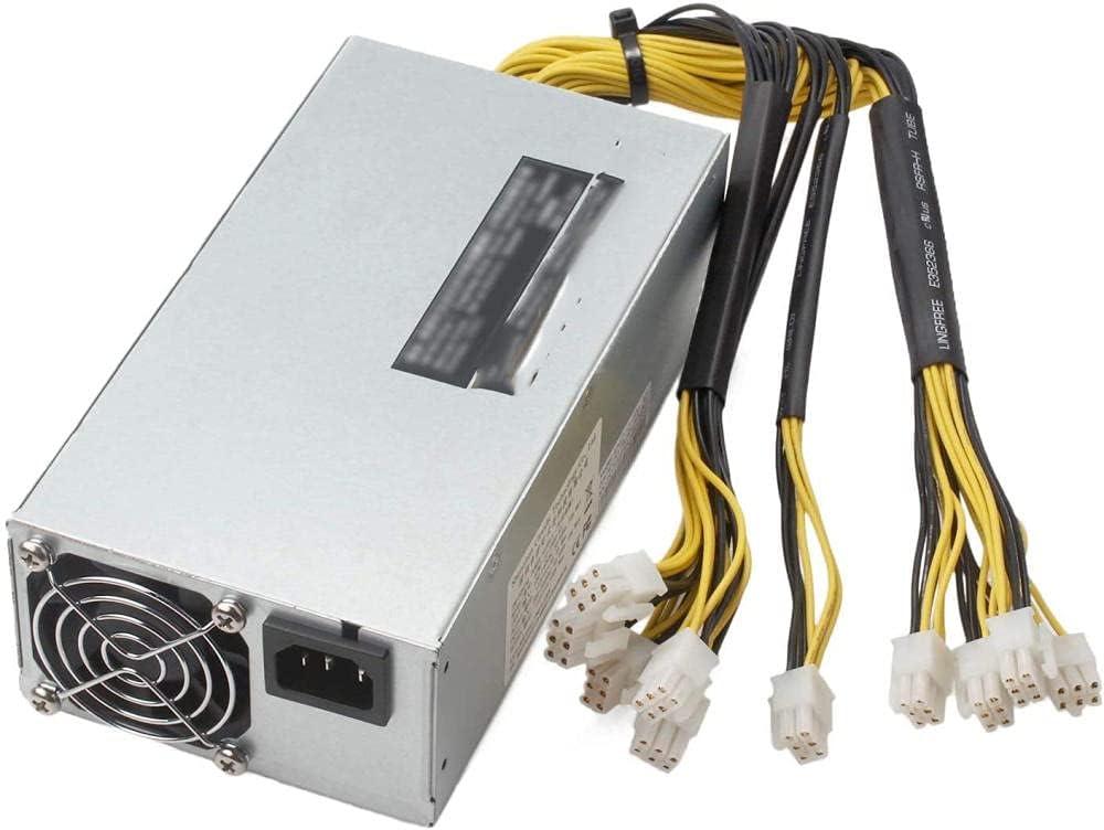 95% de eficiencia 1800W ATX Bitcoin Miner Ethereum Mining PC 8 Esquema gráfico APW7 Fuente de alimentación conmutada Compatible con AntMiner Bitmain Fuente de alimentación para S9D9T9 Z9L3++
