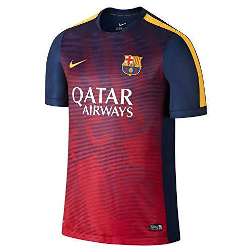 Nike FC Barcelona Squad Short-Sleeve Pre-Match Shirt (LOYAL BLUE/LOYAL BLUE) (M)