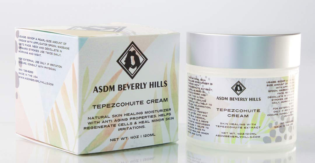 ASDM Beverly Hills Tepezcohuite Cream |4 ounces| Natural Skin Scar, Burn,  Abrasion and Eczema