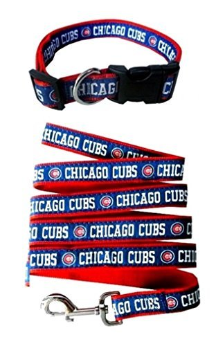 Chicago Cubs Nylon Collar and Matching Leash for Pets (MLB Official by Pets First) Size Small