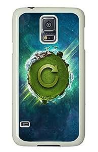 Samsung Galaxy S5 Green Earth PC Custom Samsung Galaxy S5 Case Cover White