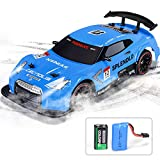 NQD RC Car Electric Racing Drift Car 1/14 2.4Ghz Radio Remote 25Km/h Controlled RTR Truck for Kids Adults 4WD High Speed Racer Car with 7.4V Battery Blue
