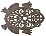 Import Wholesales Decorative Stepping Stone Cutout Frog Cast Iron Yard & Garden Flagstone Rust Brown Review