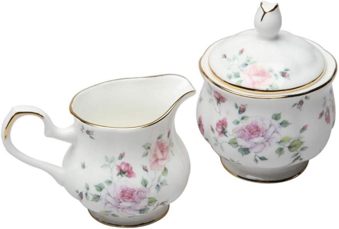 Coastline YL016BC-HA058 Romantic Rose Sugar and Creamer Set