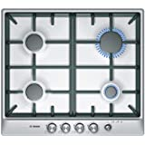 Bosch PCP615M90E built-in Gas Stainless steel hob - hobs (Built-in, Gas, Stainless steel, 1000 W, 1700 W, 3000 W)