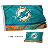 WinCraft Miami Dolphins Double Sided Allegiance Flag