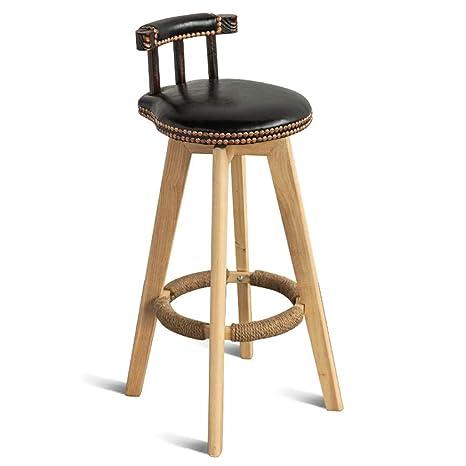 Terrific Amazon Com Barstools Chair Hemp Rope Footrest Pu Cushion Ibusinesslaw Wood Chair Design Ideas Ibusinesslaworg