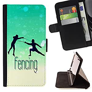 - Fencing - - Style PU Leather Case Wallet Flip Stand Flap Closure Cover FOR LG G3 - Devil Case -