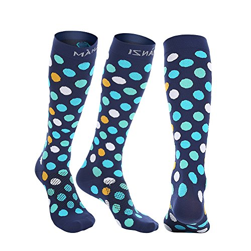 Compression Socks for Men & Women, 20-25 mmHg Graduated Compression for Ultimate Performance & Faster Recovery, Running Casual Socks for Athletes, Nurses, Travelers, Maternity & Pregnancy, 1 Pack by Manzi (Image #2)