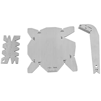 3Pcs:Set Drill Bit Angle Gauges Stainless Steel Drill Sharpener