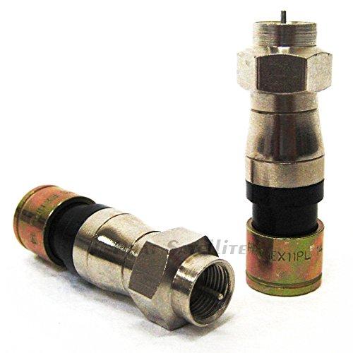 10 Pieces PPC Belden RG11 Plenum EX11PL Universal Compression Connectors 21mm Stroke Length