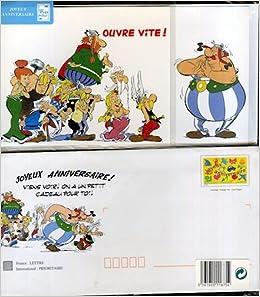 Amazon Fr Asterix La Poste Pret A Poster Carte Joyeux Anniversaire Abraracourcix A Obelix Ouvre Vite Avec Enveloppe Gaulois Autour D Obelix Albert Uderzo Livres